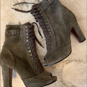 Sam Edelman Oily Graphite Velour Boots in size 8.5